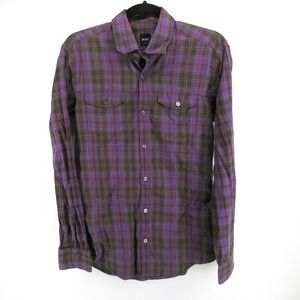Hugo Boss Plaid Button Up Casual Shirt